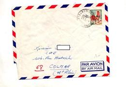 Lettre Cachet Saint Barthelemy Guadeloupe Sur Coq - Marcofilie (Brieven)