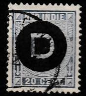Ned Indie 1911 Dienst 20 Ct. NVPH D04 Gestempeld - Nederlands-Indië