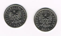 &  POLEN  2 X 1 ZLOTY  2013/2014 - Polen