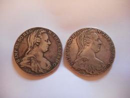 AUTRICHE 1780, 2 X THALER MARIE THERESE,  ARGENT ?? - Monnaies