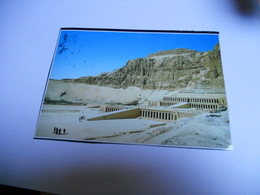 EGYPTE CARTE    EN  COULEUR  TEMPLE OF HATSHEPSUT  DEIR EL BAHARI - Abu Simbel