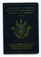 BURUNDI - Complete Expired Diplomatic Passport.  Good Cover. No Visas Or Entry Exit Stamps.. - Historical Documents