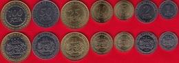 Central Africa Set Of 7 Coins: 1 - 100 Francs 2006 UNC - Centrafricaine (République)