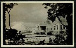 RB 1207 -  Early Postcard - Ngauruhoe From The Chateau Tongariro New Zealand - Scarce Chateau Postmark - New Zealand