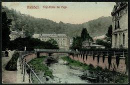 RB 1207 -  1908 Postcard - Austria Karlsbad Czech Republic 5h Rate To Tonbridge Kent - Czech Republic