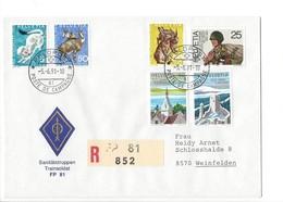 21171 - Militaria Suisse Cover Feldpost Sanitätstruppen FD 81 R 852 Pour 8570 Weinfelden 05.06.1991 - Suisse
