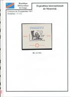 CONGO KINSHASA 1967 ISSUE  COB  BL22 IMPERFORATED MNH - Repubblica Democratica Del Congo (1964-71)
