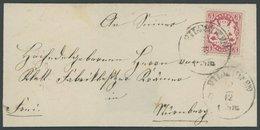 BAYERN 33 BRIEF, 1875, 3 Kr. Rotkarmin, Wz. 2, Kleine Prachtbriefhülle Mit K1 VILSHOFEN - Bavaria