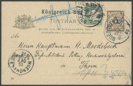 BAYERN P 37 BRIEF, 1890, 3 Pf. Braun Ganzsachenkarte Von Ritter Karl Von Brug (1. Kommandeur Der Bayer. Luftschiffer Abt - Bavaria