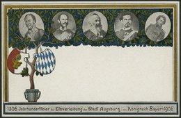 BAYERN PP 10C5/01 BRIEF, Privatpost: 1906, 2 Pf. Wappen Jahrhundertfeier, Ungebraucht, Prachtkarte - Bavaria