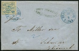 BRAUNSCHWEIG 2 BRIEF, 1864, 2 Sgr. Lebhaftpreußischblau, Kabinettbrief Von BRAUNSCHWEIG Mit Blauem K2 Nach Schweina, Sig - Brunswick