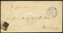 BRAUNSCHWEIG 9a BRIEF, 1863, 1/4 Ggr. Schwarz Auf Graubraun Auf Ortsbrief BRAUNSCHWEIG (Bestellgeld), Pracht, Mi. 180.- - Brunswick