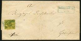 BRAUNSCHWEIG 11A BRIEF, 25.11.1862, 1 Sgr. Schwarz Auf Lebhaftgraugelb Mit Nummernstempel 6 Auf Prachtbrief Von BÖRSSUM  - Brunswick