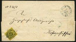 BRAUNSCHWEIG 11A BRIEF, 1864, 1 Sgr. Schwarz Auf Lebhaftgraugelb Mit Nummernstempel 21 Auf Doppelt Verwendeter Briefhüll - Brunswick