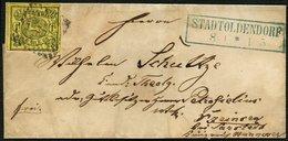 BRAUNSCHWEIG 11A BRIEF, 1861, 1 Sgr. Schwarz Auf Lebhaftgraugelb Mit Nummernstempel 40 Auf Kleinem Siegelbrief Von STADT - Brunswick