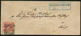 BRAUNSCHWEIG 12Aa BRIEF, 1864, 3 Sgr. Rosa Mit Nummernstempel 14 Auf Brief Von GANDERSHEIM Nach Aurich, Pracht - Brunswick