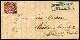 BRAUNSCHWEIG 12Ab BRIEF, 1863, 3 Sgr. Karmin, Farbfrisches Breitrandiges Kabinettstück Mit Nummernstempel 37 Auf Dekorat - Brunswick