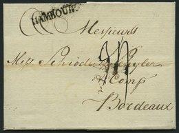 HAMBURG VORPHILA 1776, HAMBOURG, L1 Auf Brief Nach Bordeaux, Pracht - Germany