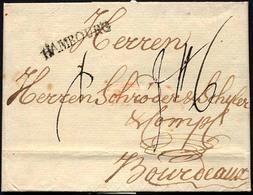 HAMBURG VORPHILA 1781, HAMBOURG, L1 Auf Brief Nach Bordeaux, Pracht - Germany