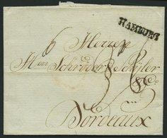 HAMBURG VORPHILA 1785, HAMBURG, L1 Auf Brief Nach Bordeaux, Pracht - Germany