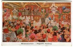 Art Déco Montmartre Pigall's Gaiety Cachet Ouvert Toute La Nuit Pigalle Env. 1920 - Parigi By Night