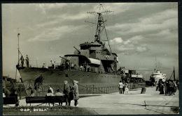 RB 1208 -  WWII Real Photo Military Warship Postcard - Gdynia Poland - ORP Burza - Maritime Shipping Theme - Poland