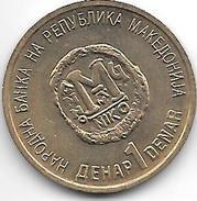 Macedonia 1 Dinar 2000 Km 9  Unc - Macédoine