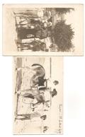 """2 Cartes Photos Trouvée Ensemble, ROYAN 16 Juillet 1919 """"sur 1 Carte"""" - ENFANTS - PHOTO - ANES - PLAGE - Autres Communes"""