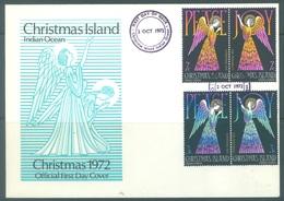 CHRISTMAS - FDC - 2.10.1972  - CHRISTMAS -  Yv 55-58 - Lot 17326 - Christmas Island