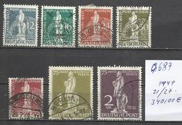 Q687-ALEMANIA SERIE COMPLETA  BERLIN 21/27 AÑO 1949 340,00€ BERLIN OCCIDENTAL,MAGNIFICA SERIE ,MUY RARA.GRAN CALIDAD.SEL - Berlin (West)