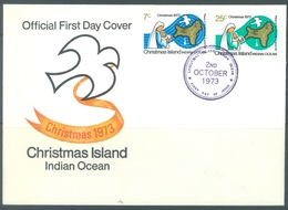 CHRISTMAS - FDC - 2.10.1973  - CHRISTMAS -  Yv 59-60 - Lot 17327 - Christmas Island