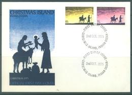 CHRISTMAS - FDC - 2.10.1975  - CHRISTMAS -  Yv 63-64 - Lot 17328 - Christmas Island