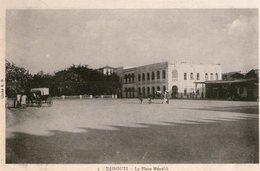 (69) CPA  Djibouti  La Place Menelik (Bon Etat) - Gibuti