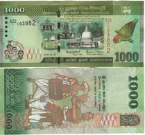 SRI LANKA  New 1'000 Rupees  Commemrative  (70th Anniversary Independence)  Parrot At Right (2018)  UNC - Sri Lanka