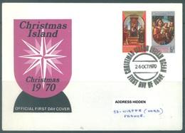 CHRISTMAS - FDC - 26.10.1970  - CHRISTMAS -  Yv 35-36 - Lot 17329 - Christmas Island
