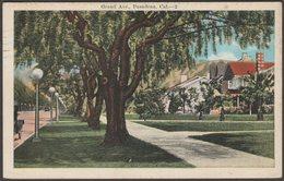 Grand Avenue, Pasadena, California, 1921 - Postcard - United States