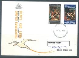 CHRISTMAS - FDC - 4.10.1971  - CHRISTMAS -  Yv 37-38 - Lot 17330 - Christmas Island