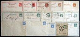 NORWEGEN Ganzsachen: 1877-90, 15 Meist Verschiedene Ganzsachen, Etwas Unterschiedlich, Besichtigen! - Unclassified
