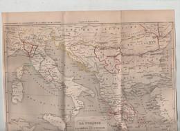Carte Turquie Grèce Italie Houzé De 1700 à 1840  1842 - Mappe
