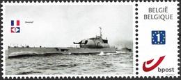 Sub4 Belgium-French Submarine Surcouf In WWII -MNH - Belgio