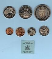 Nuova Zelanda 1 2 5 10 20 50 One Dollar New Zeland 1967 Mint Set - Nuova Zelanda