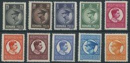 RUMÄNIEN 425-34 **, 1931/2, König Karl II, Wz. 7, Postfrischer Prachtsatz, Mi. 550.- - Romania