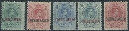 SPANIEN 250-54 *, 1920, Flugpostmarken, Falzrest, üblich Gezähnter Prachtsatz - Spain