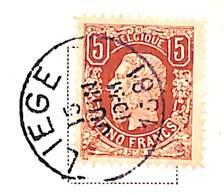Belgique Leopold II 5 Francs Mi#34 Sur Carte Postale 1881 (Cinquantenaire De La Belgique. Pour Fonctionnaire Postal) - 1869-1883 Léopold II