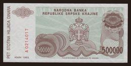 RSK, 500.000 Dinara, 1993 - Croatia