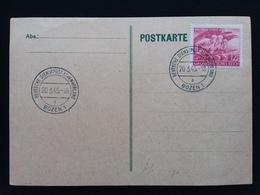 GERMANIA III REICH 1954 - Cartolina Tedesca Annullata Alpenvorland Bozen - In Uso In Alto Adige Tra Il 1943 E Il 1945 - Germania