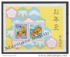 Japan - Japon 1998 Yvert BF 158, New Year, Year Of The Tiger - Miniature Sheet - MNH - Blocks & Sheetlets