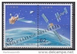 Japan - Japon 1992 Yvert 1991-92, International Space Year - MNH - Nuevos