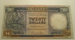 1986 - Hong Kong - 20 DOLLARS, The Hongkong And Shangai Banking Corporation - A E 596144 - Hong Kong