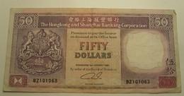1992 - Hong Kong - 50 DOLLARS, The Hongkong And Shangai Banking Corporation - BZ101063 - Hong Kong